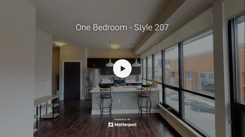 Large Windows for One Bedroom Virtual Tour