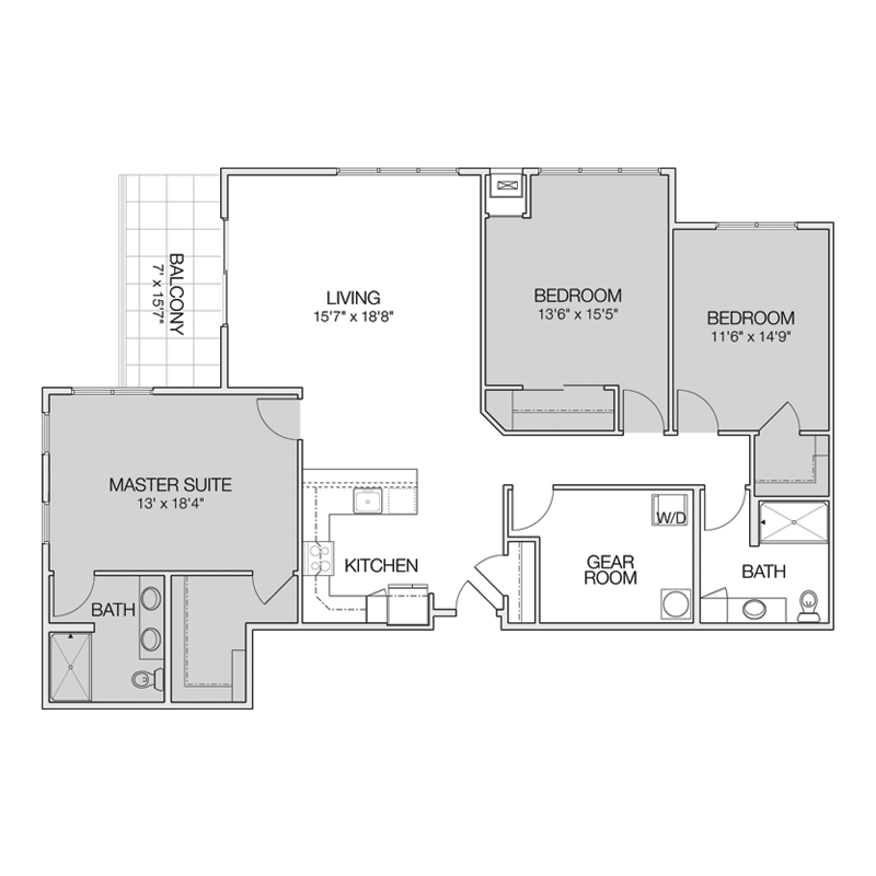 3 Bedroom Apt Floor Plan