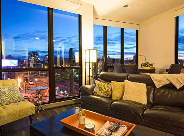 Edge On North Living Room with Night SkyLine