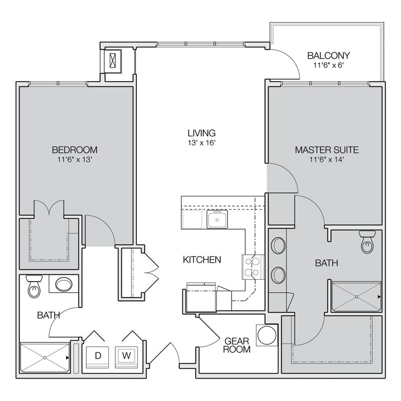 Master Suite Apt Floor Plan