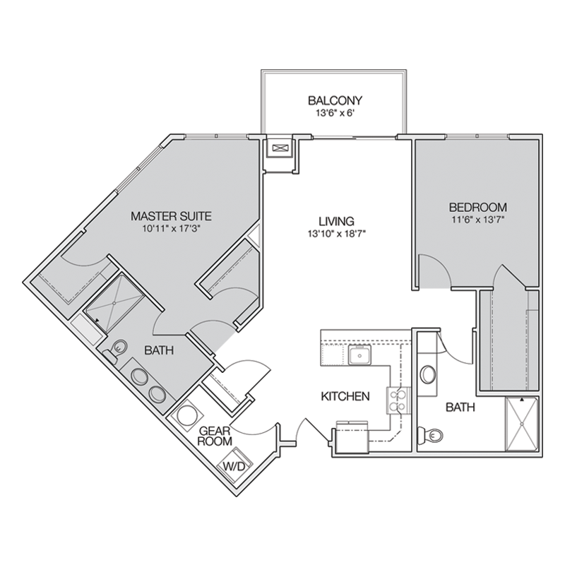 Bed and Master Suite Milwaukee Floor Plan