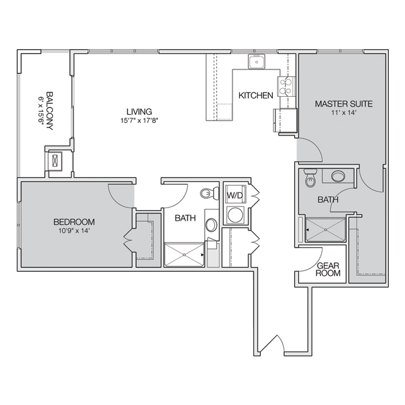 Luxury 2 Bedroom Apt Floor Plan