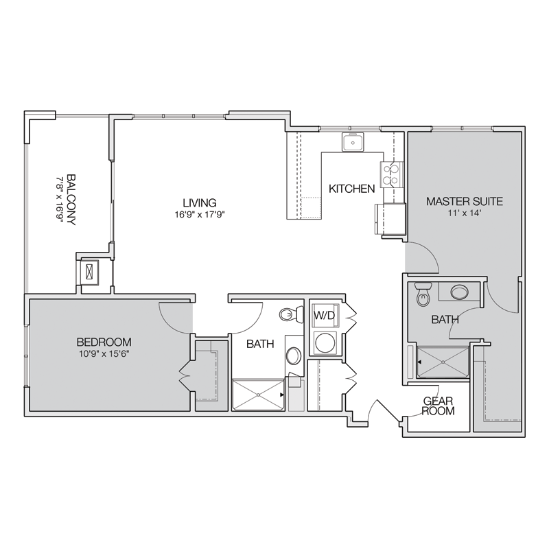 Master Suite and Bedroom Floor Plan