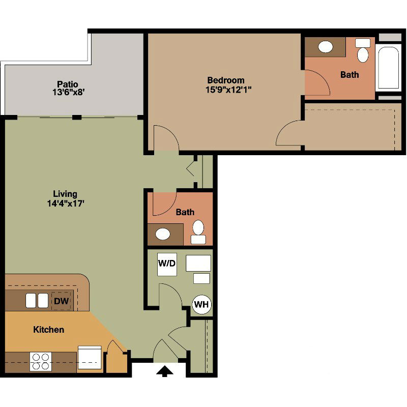 Master Bed with Second Bath Floor Plan