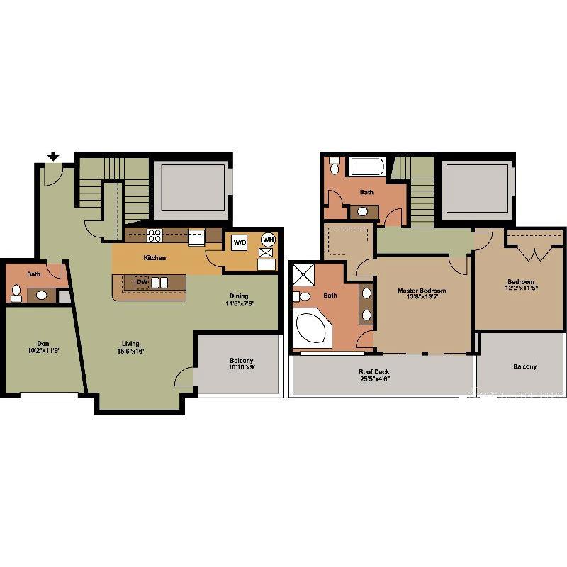 Large 2 Floor Jackson Floor Plan