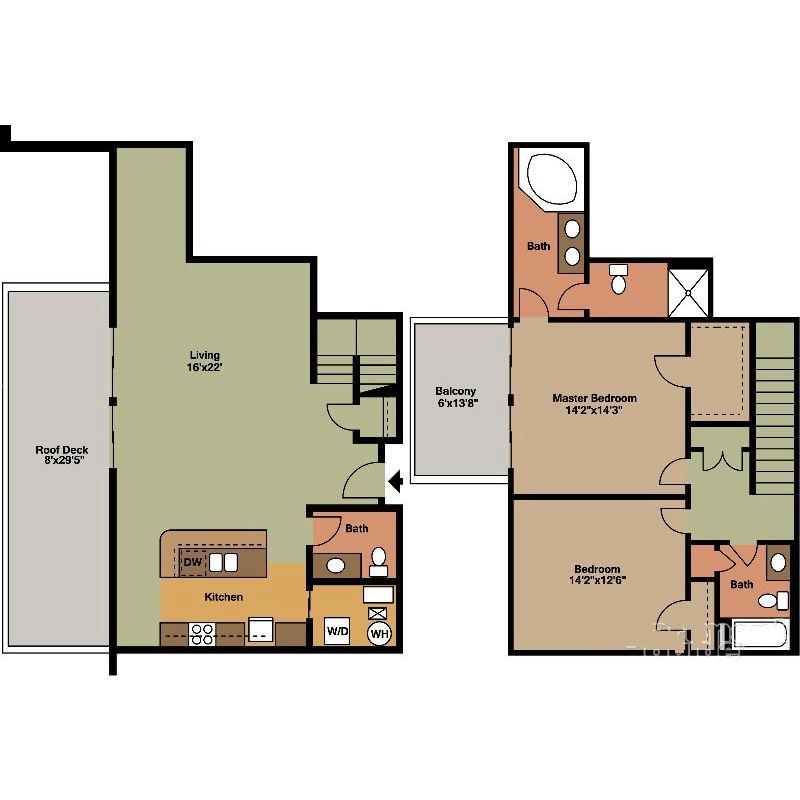 2 Floor 2 Bed Jackson Floor Plan