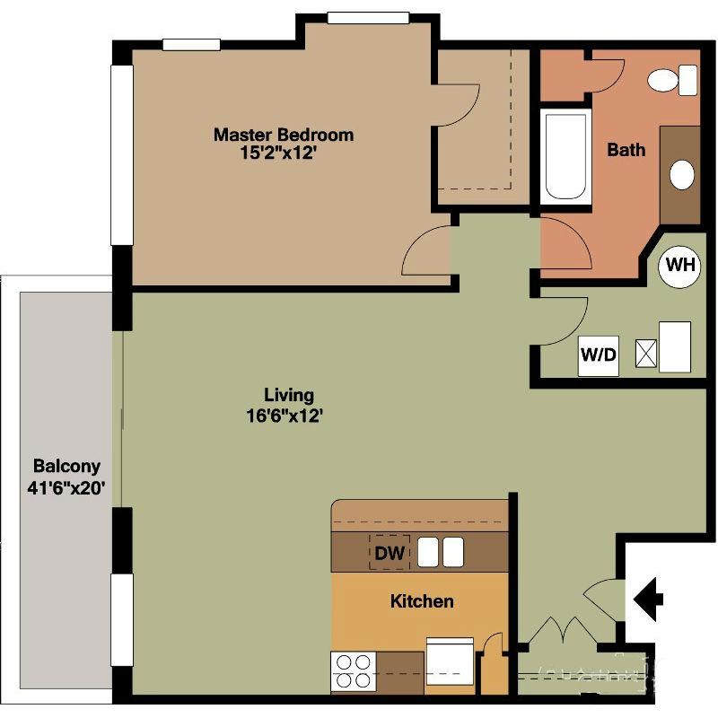 Nice Spaced Master Bedroom Floor Plan