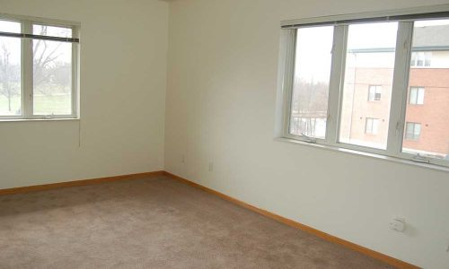 Empty Bedroom with Two Windows