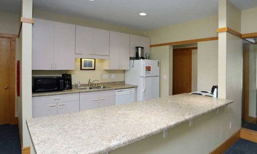 White Kitchen Separate Counter Space